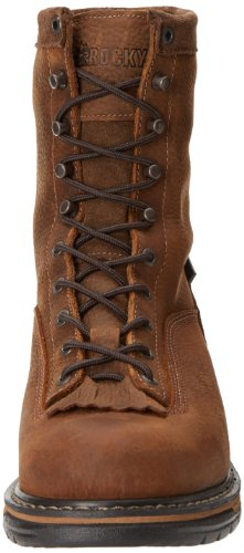 Clad Men's Brown LTT Eight Iron Work Boot Inch Rocky qavAUwxx