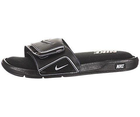 picture of Nike Comfort Slide 2 Men Slider Black White Metallic Silver  415205- 859129aaf