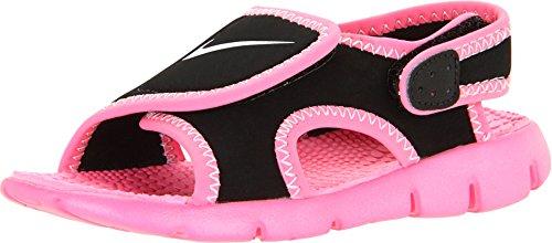 Nike Kids Sunray Adjust 4 Infant/Toddler Black/Digital Pink/Pure Platinum Girls Shoes