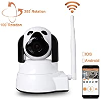 Dome Camera Wireless Security Camera LXMIMI HD 720P WiFi Baby Cam Pet Monitor Pan/Tilt with Motion Detection Two-Way Night Vision and Motion Detection wireless IP Camera Wifi 2.4 GHz