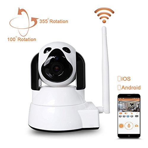 41w5B3mLCjL - Dome Camera Wireless Security Camera LXMIMI HD 720P WiFi Baby Cam Pet Monitor Pan/Tilt with Motion Detection Two-Way Night Vision and Motion Detection wireless IP Camera Wifi 2.4 GHz