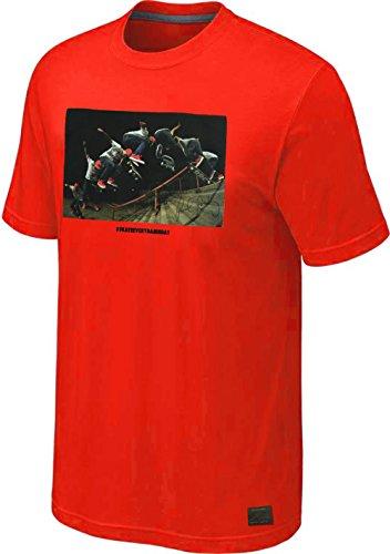 Nike Skateboarding P-Rod #skateeverydamnday Multi Shot Stair Jump Photo T-Shirt (2XL, Red) (Photo Jump Shot)
