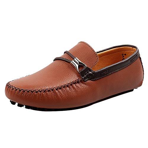 Hombre Marr¨n Sin Plano Zapatos Cordones JOJONUNU wdZaqRxZ