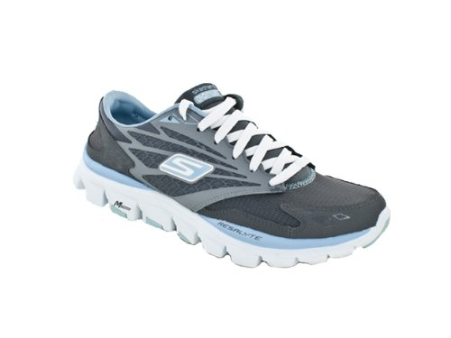 Skechers femme Run Ride Go Gris anthracite/bleu clair