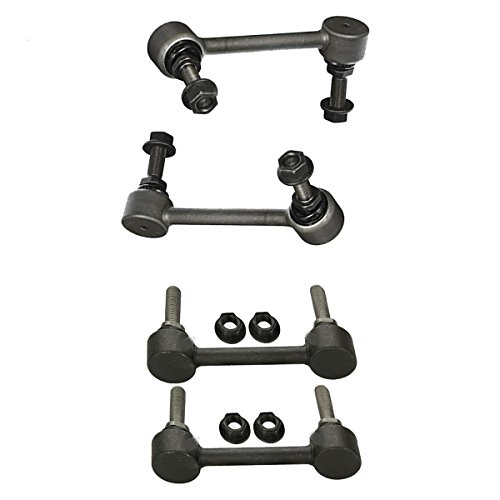 Front Sway Bar End Link Set & Rear Sway Bar Links 4pc Kit for 11-15 Dodge Durango - [2011 Jeep Grand Cherokee] - [2012-2015 Grand Cherokee 3.6/5.7L]