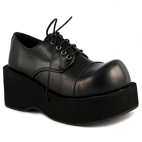 """DANK-101, 3 1/4"""" P/F Blk Pu Shoes(Black Pu,9)"""