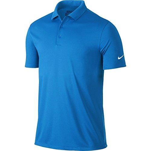Nike Mens Dri-Fit Victory Golf Polo Shirt (Large, Royal Blue)
