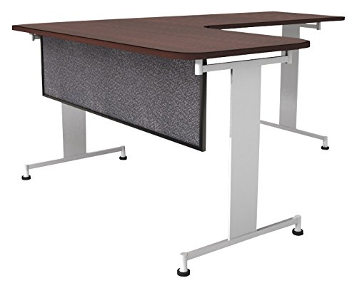 Obex 12X60A-B-GR-MP 12'' Acoustical Desk and Table Mounted Modesty Panel, Graphite, 12'' x 60''