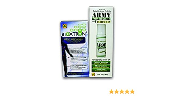 Amazon.com: Bioxtron Natural AFA Stem Cell Supplement-60 Capsules + 1 Army Health Roll On 100% Natural Curcumin: Health & Personal Care