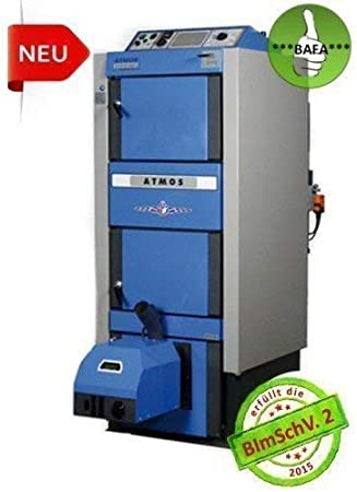 Pellets & Madera Atmos Dc 30GSP 29,8kW Caldera Combinada Incl. A25 y Transportador de Tornillo