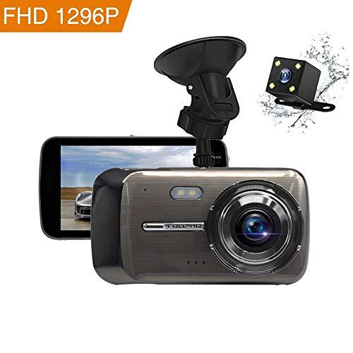 Dash Cam, BEITESI Full HD Front and Rear Dual Dash Camera with 4 IPS LCD Screen, 170° Wide Angle Lens Dashboard Camera with G-Sensor, Loop Recording, Rear View and Motion Detection