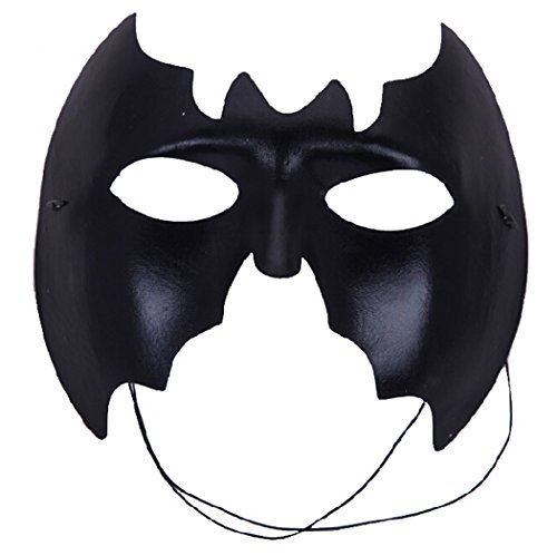 Halloween Costume Masquerade Half Face Cover Dance Party Batman (Two Face Batman Mask)