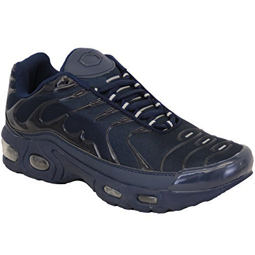 Hommes bulle Baskets Lacet chaussures Course baskets jogging sport fitness gym MARINE - 1950 HlCof