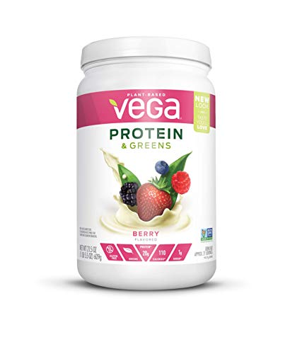 Vega Protein & Greens Berry (21 Servings (Packaging may vary), 1.34 lb) - Plant Based Protein Powder, Keto-Friendly, Gluten Free,  Non Dairy, Vegan, Non Soy, Non GMO