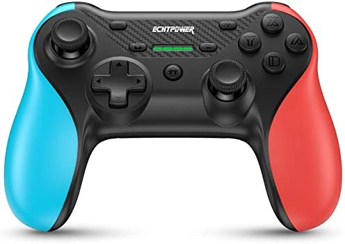 Wireless Controller for Switch/Switch Lite, 2021 Upgraded Ergonomic Pro Controller, One-Click Wakeup, ECHTPower Wireless Switch Remote Gamepad with Adjustable Turbo, Motion, Vibration Function