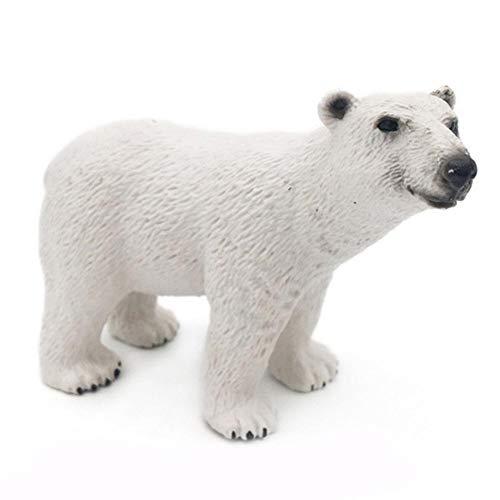 Simulation Wild Animal Polar Bear Model Mini Simulation Solid Toy Crafts Ornaments (Polar Bear) (Ornament Polar Craft Bear)