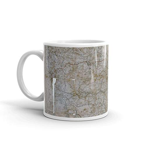 0388 Railroad Maps Map of the route of the Southern Continental R R with connections from Kansas City Mo Ft Smith Ark and Shreveport La giving a general view of the recent Mug 11 Oz White Ceramic