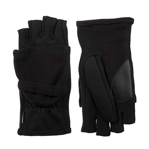 - isotoner Women's Flip Top Cold Weather Gloves with Convertible, Open Thumb and Soft Fleece Palm