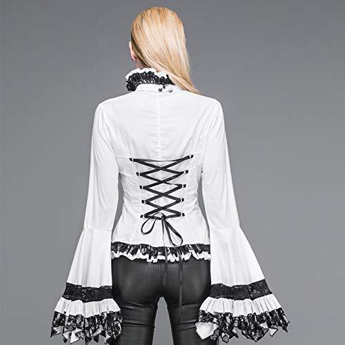 Fashion Lunga Manica Lunghe contiene Maniche Con 7 Devil Gotica In Maglia A Misure Maglietta Cravatte Corte Lunghe Camicia qdRwnWg