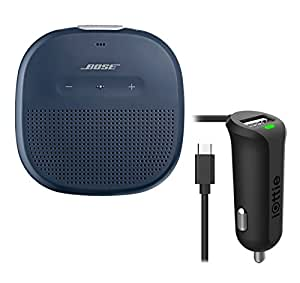 Bose SoundLink Micro Waterproof Bluetooth Speaker, Midnight Blue, with Micro USB Car Charger