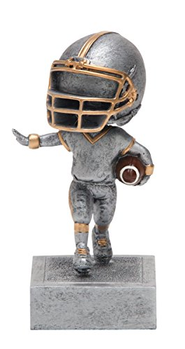 Decade Awards Football Bobblehead Trophy | Kids Football Award | 5.5 Inch Tall - Free Engraved Plate on - Trophy Football Player