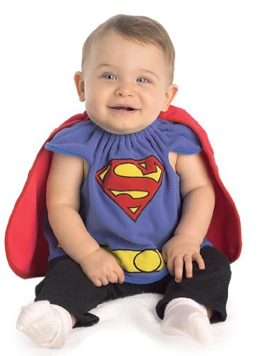 Superman Newborn Costumes (Superman Deluxe Bib, Superman Print, Newborn Costume)