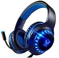 Pacrate 7.1 Surround Sound Gaming Headset with Memory Foam Ear Pads USB Headphones with Noise Cancelling Microphone for...