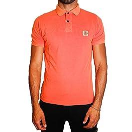 Stone Island Cotton Peach Polo Shirt