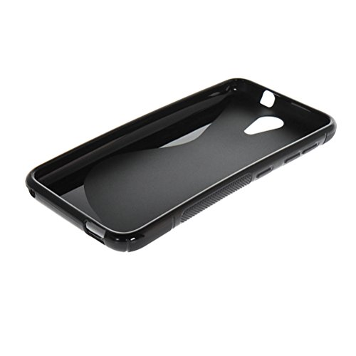 MOONCASE S-Wave Flexible Soft Gel TPU Silicone Skin Slim Back Case Cover for HTC Desire 620G Black