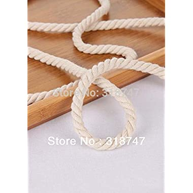 3yards Diameter 8-10mm 3 Shares Woven Twist Cotton Rope