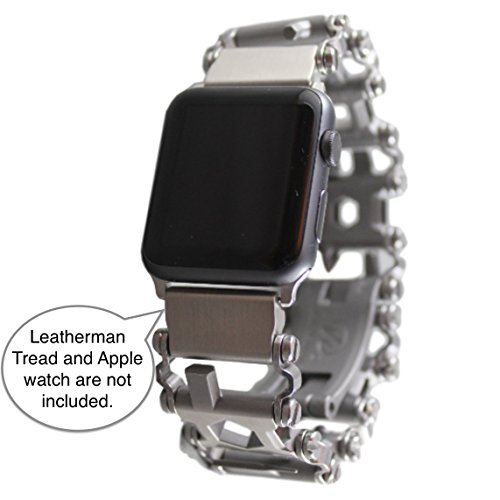 BestTechTool LEATHERMAN TREAD Watch Adapter- Leatherman watch link (compatible with Apple watch 42mm, Stainless Steel, TREAD)