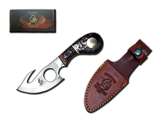 "Bone Collector Knife BC-794 Fixed Blade Skinning Knife with Leather Sheath, 7"" L"