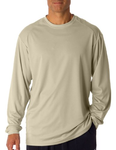 Badger Sport B-Core Long Sleeve T-Shirt 4104 Sand XX-Large