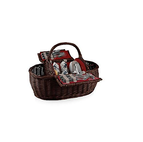 Picnic Time Gondola Pixels Collection Picnic Basket with Service for Four