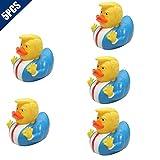KOOBOOK 5Pcs Donald Trump Duck Rubber PVC Duck Squeak Bath Duck Squeeze Floats Pool Water Animals Doll