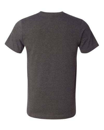 Bella + Canvas Unisex Kurze Ärmel hergestellt in den USA Crewneck T-Shirt–Athletic Heather XS grau - Dark Grey Heather