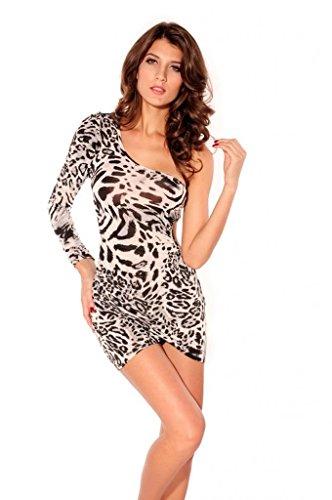 Lukis One-Shoulder Minikleid Partykleid Abendkleid Etuikleid Tänzerin