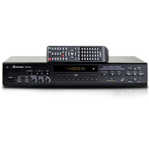Acesonic DGX-218 DVD CDG Multi-Format Karaoke Player with 4X CD+G to MP3G Converter by Acesonic