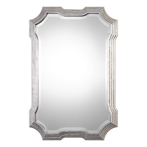 Art Deco Silver Curves Wall Mirror | 40