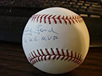 Whitey Ford Autograph / Signed Baseball 61 WS MVP New York Yankees