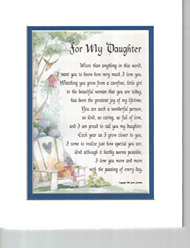 Genie's Poems Present Gift Poem for an Older Daughter #47a an 18th 21st 30th Birthday Present for Daughter. ()