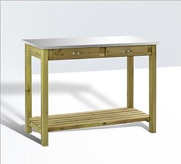 DEMA - Mesa para plantas con superficie de metal
