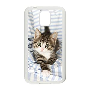 YananC(TM) YnaC208874 DIY Custom Case for SamSung Galaxy S5 I9600 w/ Cute Kitten Cat
