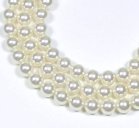 100 White Swarovski Crystal Pearls 4mm Round Beads (5810). 16 Inch Loose - Swarovski Crystal Parts Beads