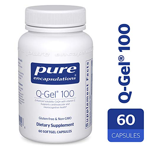 Pure Encapsulations - Q-Gel 100 (Hydrosoluble CoQ10) - CoQ10 with Vitamin E to Enhance Solubility - 60 Softgel Capsules