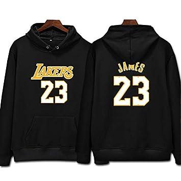 L.A Lakers James #23 Sudadera con capucha Hombres Jóvenes Name & Number Deportes Baloncesto Moda