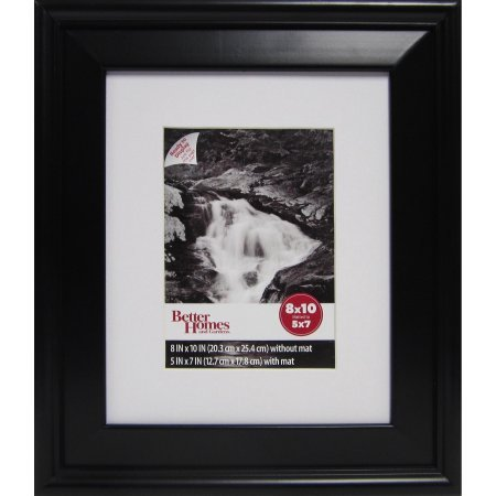 Canopy 5x7 or 8x10 Picture Frame Black