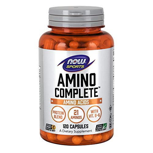 - NOW Sports Nutrition, Amino CompleteTM with Vitamin B-6, 120 Capsules