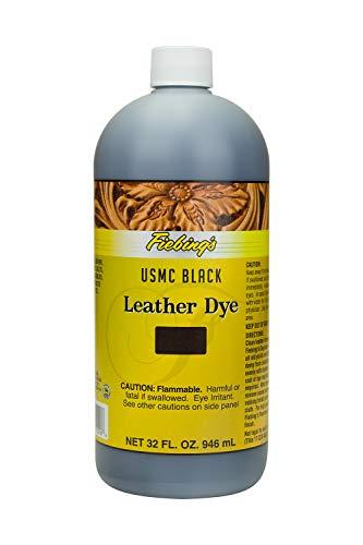 Fiebing's FILDYM01P032Z Leather Dye - USMC Black, 32 oz