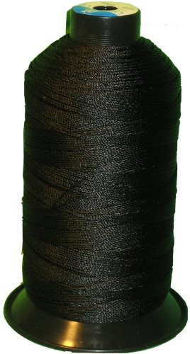 Item4ever® BLACK Bonded Nylon Sewing Thread T210 #207 1000 Yard for Outdoor, Leather, Upholstery